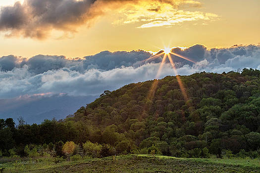 Great Smoky Mountain Sunrise by Darrell Gregg