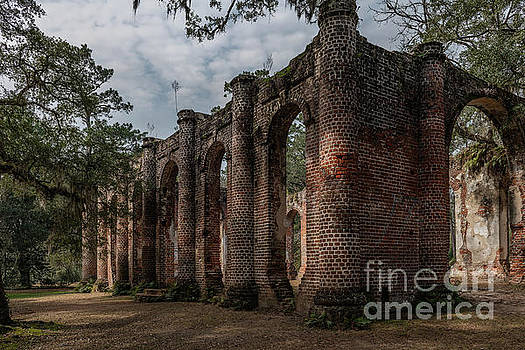 Greek Revival Architecture - Old Sheldon Church Ruins by Dale Powell