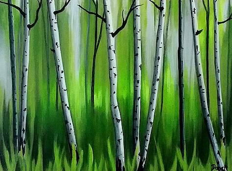 Green Aspen Glow  by Danett Britt