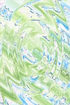 Green Blue Abstract by Dee Winslow