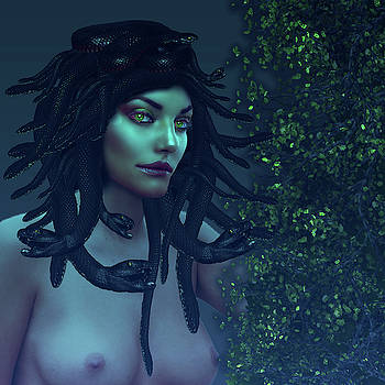 Green Eyed Medusa by Lutz Roland Lehn