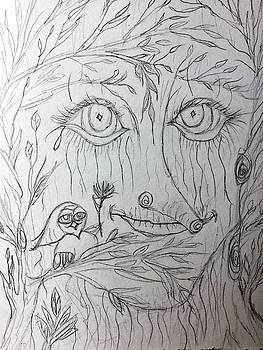 Green Man Of The Forest by Theresa Guardado