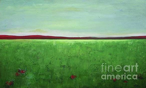 Green Meadow Landscape by Vesna Antic