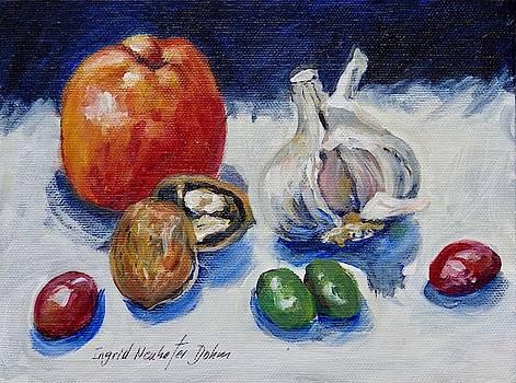 Green Olives by Ingrid Dohm