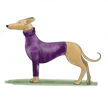 Greyhound sweater by Christy Beckwith