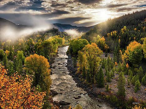 Gros Ventre River Light by Leland D Howard