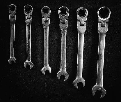 Group of Steel spanners by Michalakis Ppalis