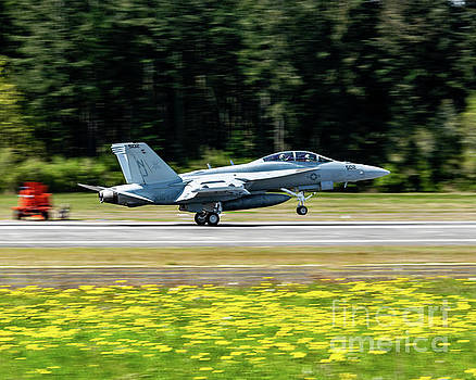 Growler Nose Up On A Spring Olf Coupeville Day by Joe Kunzler