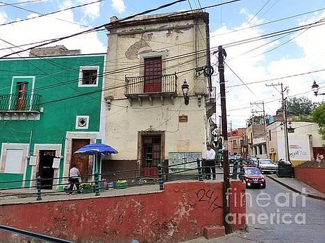 Guanajuato Street Corner by Rosanne Licciardi