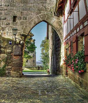 Guard area of the Hohenzollernburg Cadolzburg/ German by Karl-Heinz Luepke
