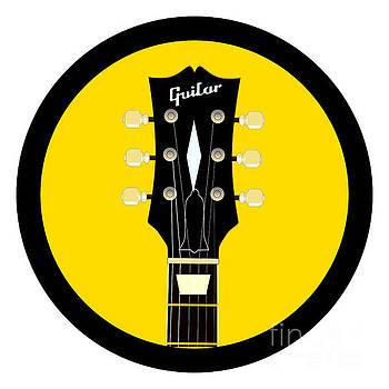 Guitar Headstock Round Icon by Bigalbaloo Stock
