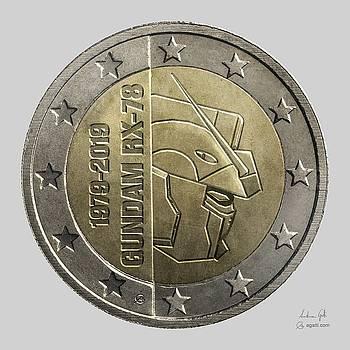 Andrea Gatti - Gundam 40 Coin light gray
