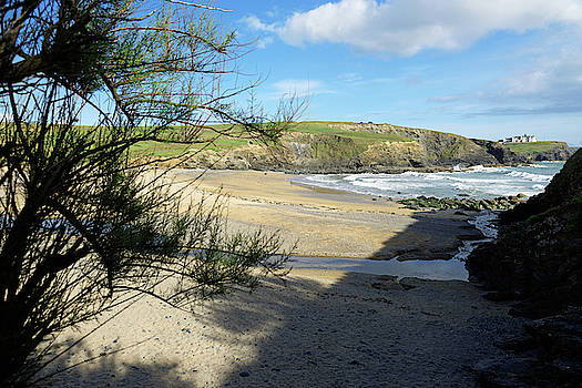 Gunwalloe Church Cove From The Shadows by Rod Johnson