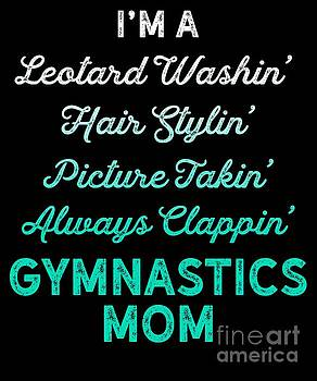 Gymnastics Leotard Washin Mom Teal Gymnast Light by J P