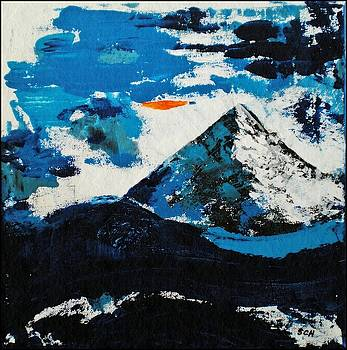 Hahn's Peak Colorado - In Abstract Realism by Scott Haley