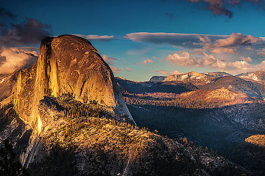 Half Dome at Dusk by Andrew Soundarajan