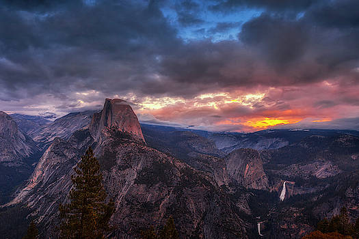 Half Dome at Sunset by Andrew Soundarajan