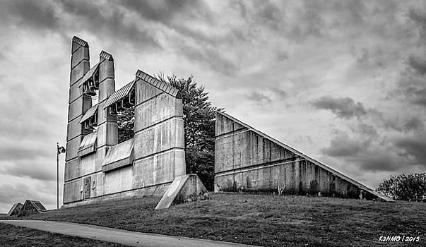 Halifax Explosion Memorial Bell Tower BW by Ken Morris