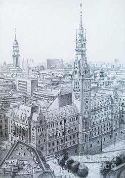 Hamburg City Hall - Hamburg by Mohammad Hayssam Kattaa