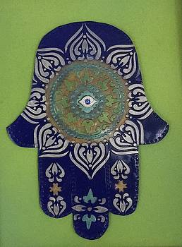 Hamsa in blue by Hila Abada