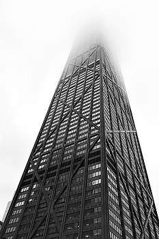 Hancock Center Rises Into Clouds - Chicago by Daniel Hagerman
