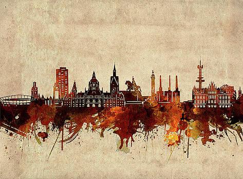 Hannover Skyline Sepia by Bekim Art