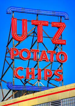 Hanover PA Skyline - Utz Potato Chips No. 1 - Carlisle Street by Michael Mazaika