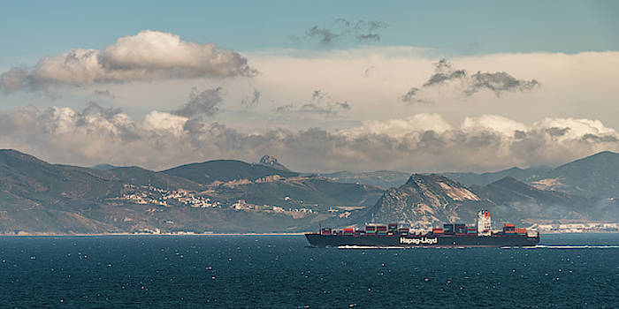 Hapag-Lloyd Containership entering the Mediterranean Sea by William Dickman