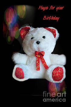 Happy Birthday Teddy Bear Hug by Al Bourassa
