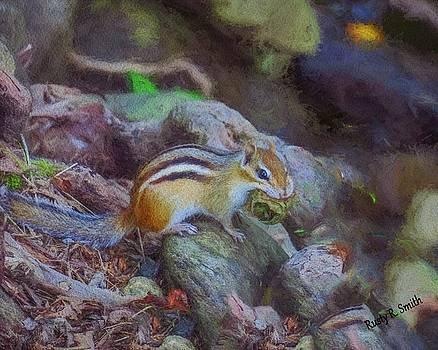 Happy Chipmunk by Rusty R Smith