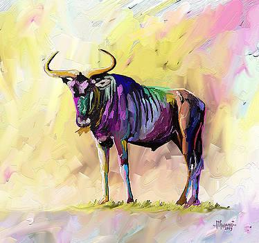 Colorful Gnu by Anthony Mwangi