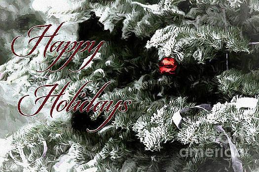 Happy Holiday Pine Tree by Pamela Moran