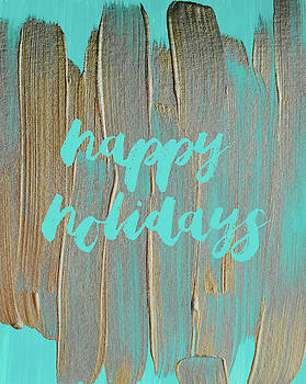 Andrea Anderegg - Happy Holidays 2 #painting #minimalism