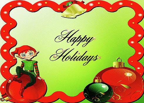 Happy Holidays Elf by Leticia Latocki