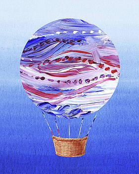 Happy Hot Air Balloon Watercolor V by Irina Sztukowski