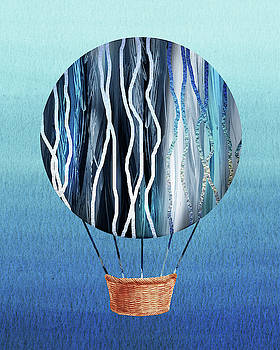 Happy Hot Air Balloon Watercolor XIII by Irina Sztukowski