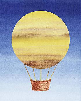 Happy Hot Air Balloon Watercolor XIV by Irina Sztukowski