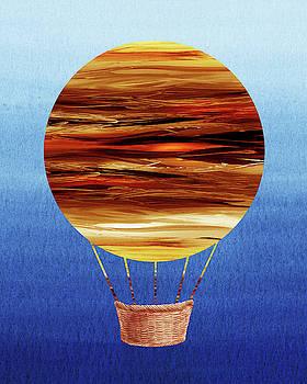 Happy Hot Air Balloon Watercolor XV by Irina Sztukowski