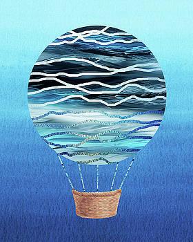 Happy Hot Air Balloon Watercolor XVII by Irina Sztukowski