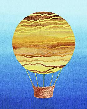 Happy Hot Air Balloon Watercolor XVIII by Irina Sztukowski
