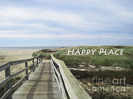 Sharon Williams Eng - Happy Place Beach Poster