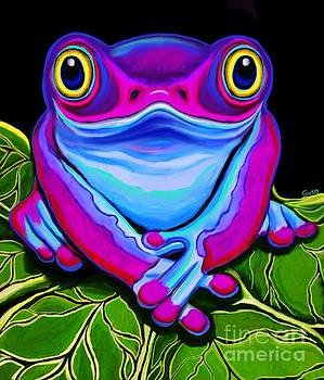 Happy Smiling Frog by Nick Gustafson