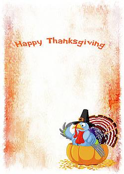Happy Thanksgiving Card by Leticia Latocki