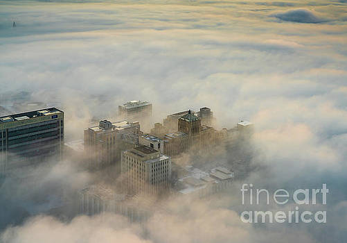 Harborview in the Clouds by Mike Reid