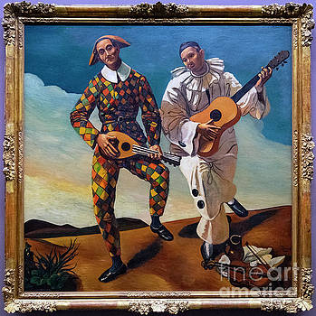 Wayne Moran - Harlequin and Pierrot Andre Derain lorangerie Paris France