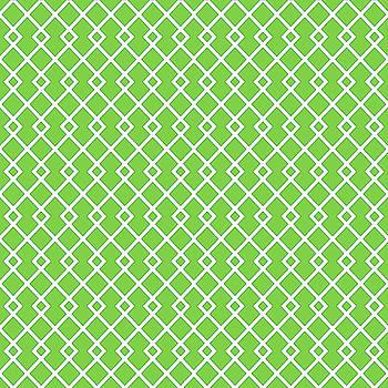 Harlequin Green Diamond Pattern by Ross