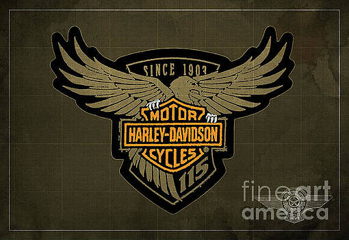 Harley Davidson Old Vintage Logo Fuel Tank Motorcycle Brown Background by Drawspotntage Logo Fuel Tank Motorcycles Illustrations