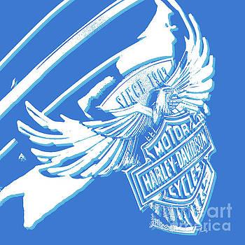 Harley Davidson tank logo abstract artwork by Drawspots Illustrations