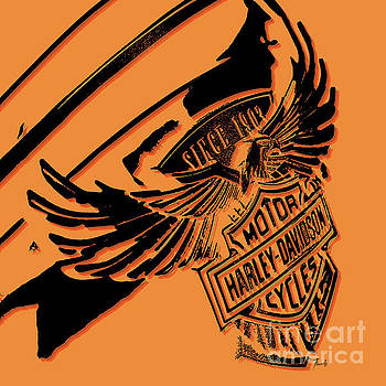 Harley Davidson tank logo artwork by Drawspots Illustrations