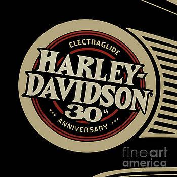 Harley Davidson tank vintage logo artwork by Drawspots Illustrations